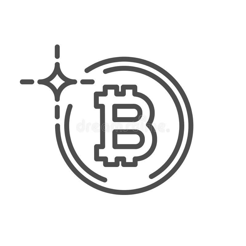 Innovatieve cryptografiemunt stock illustratie