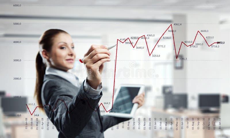 Innovatieve media technologieën in gebruik royalty-vrije stock afbeeldingen