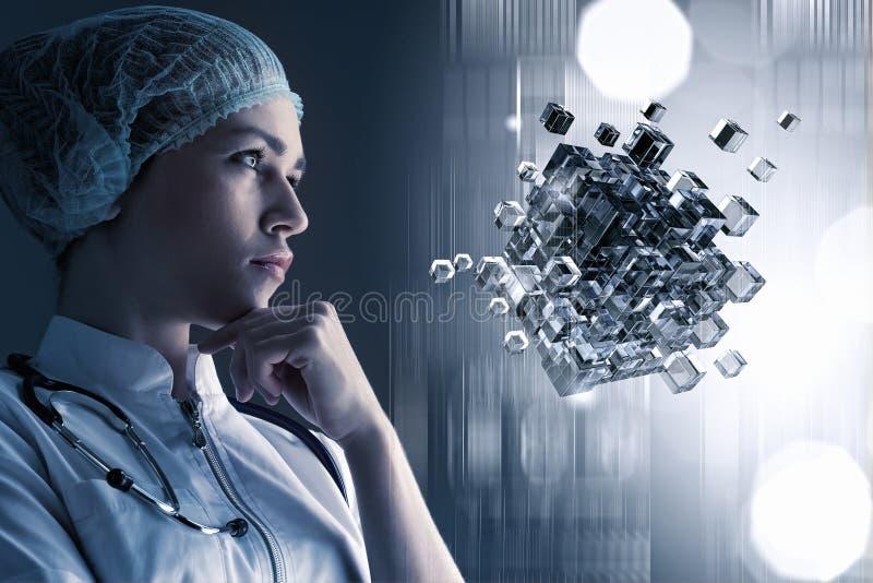 Innovatieve technologieën voor het betere leven Gemengde media stock afbeeldingen