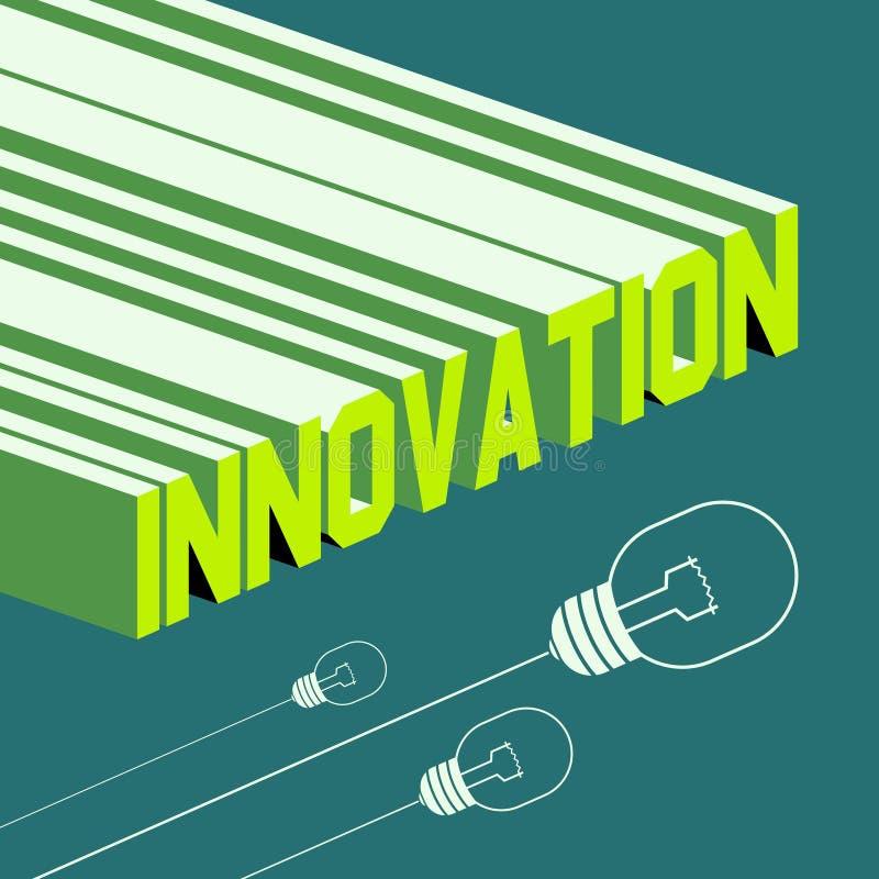 Innovatiewoord Abstracte achtergrond met 3D vector illustratie