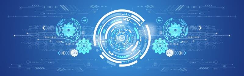 Innovation abstraite de technologie de fond de vecteur illustration de vecteur