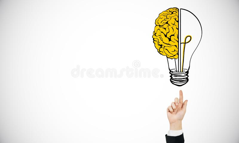 Innovation and brainstorm background stock illustration