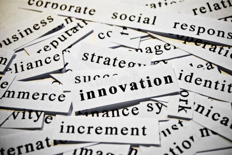 Innovation. Concept des mots de coupe-circuit connexes avec des affaires. photographie stock libre de droits