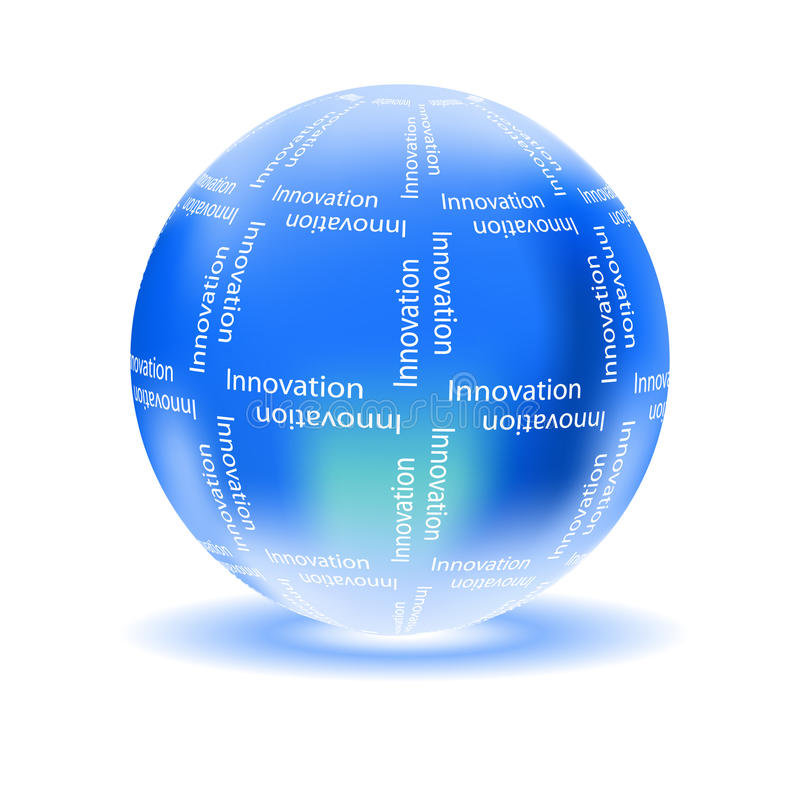 Innovation concept with glossy globe stock illustration