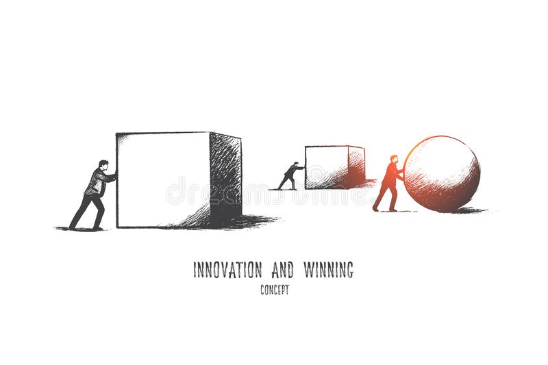Innovation concept. Hand drawn isolated vector. stock illustration
