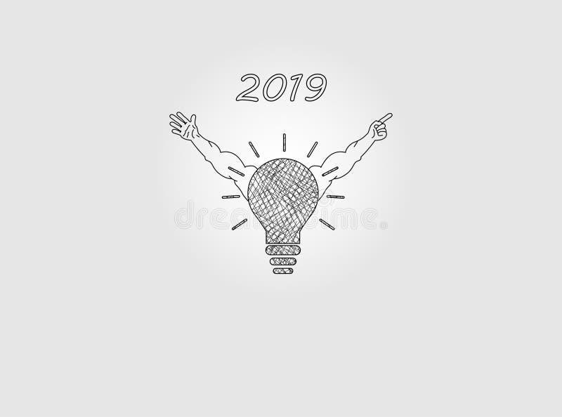 Innovation concept to 2019 vector illustration