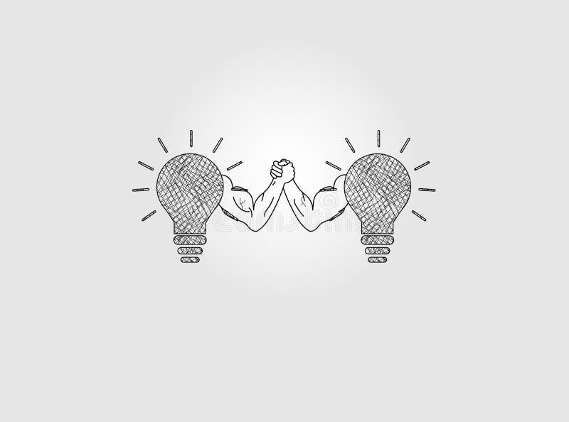 Innovation concept to Arm Wrestling vector illustration