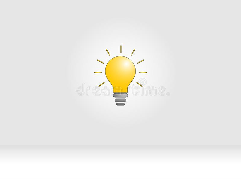 Innovation concept to Lamp stock illustration