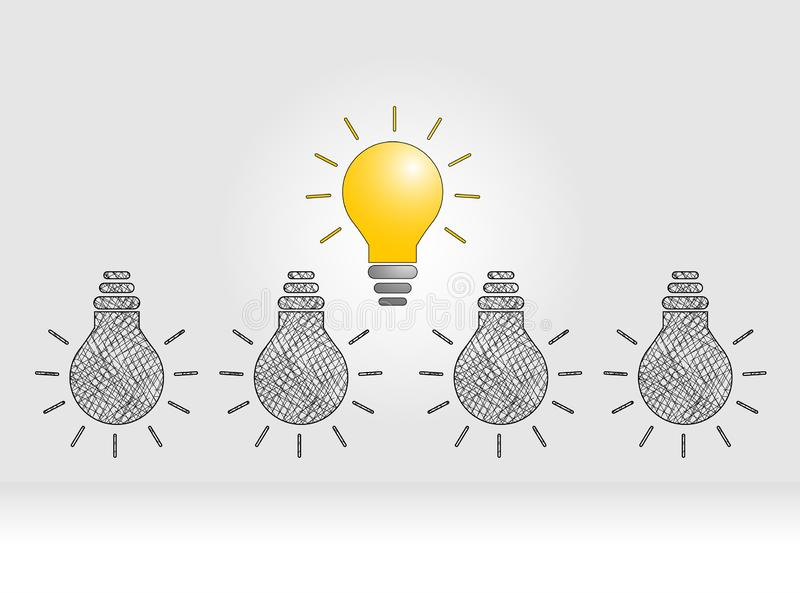 Innovation concept to Lamp Shine vector illustration