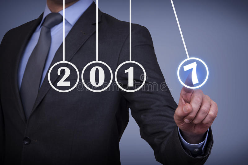Innovation Concepts New Year 2017 Energy Concept on Visual Screen stock images