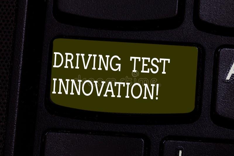 Innovation d'examen de conduite d'apparence de signe des textes Évaluation conceptuelle de voiture à l'avance de photo et essai a photos libres de droits