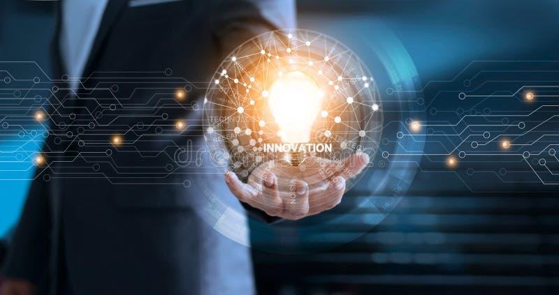 Innovation de réseau global et concept de technologie photographie stock libre de droits