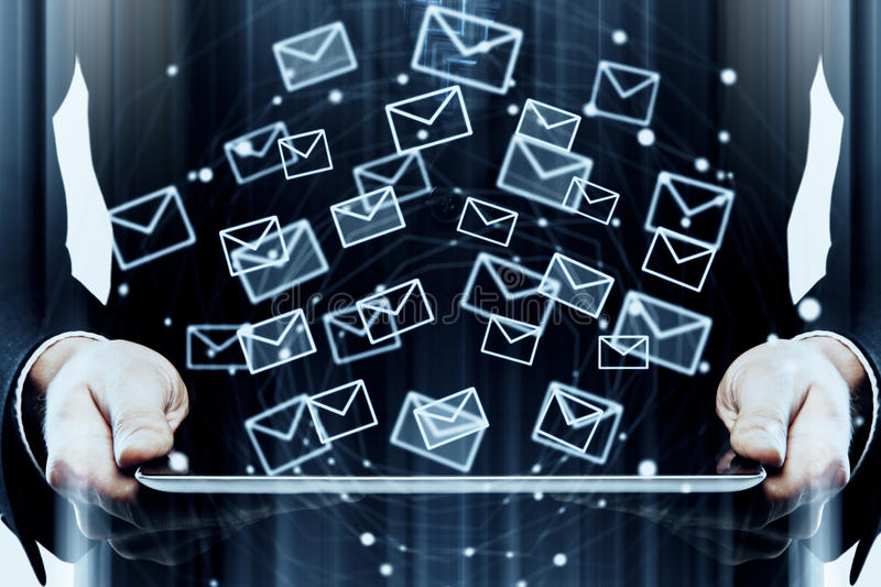 Innovation and email marketing concept stock photo