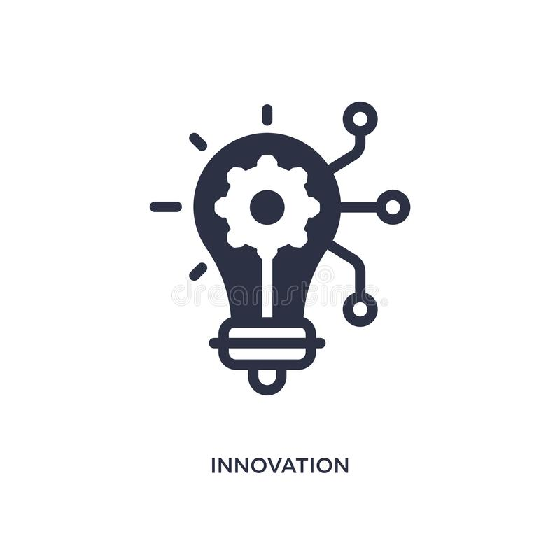 innovation icon on white background. Simple element illustration from marketing concept stock illustration
