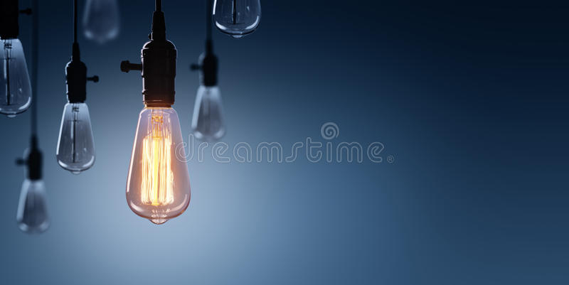 Innovation And Leadership Concept - Glowing Bulb royalty free stock photos