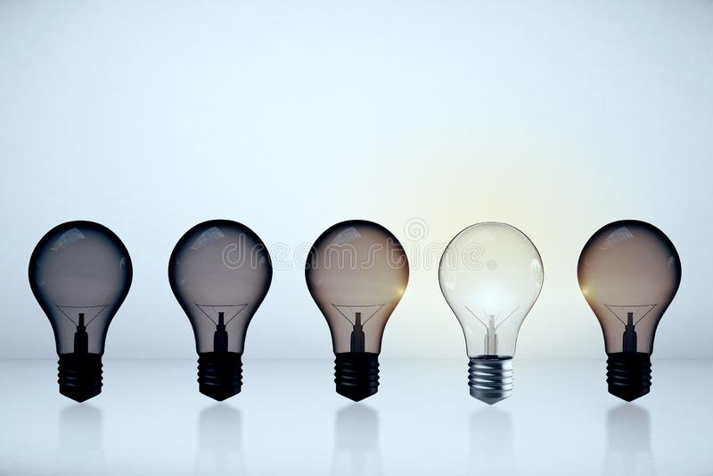 Innovation- och ledarskapbegrepp royaltyfri illustrationer