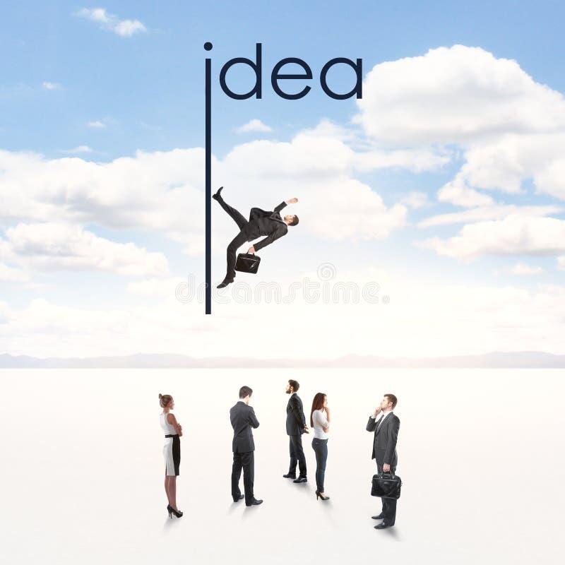 Innovation and solve concept. Creative idea background with people. Innovation and solve concept stock photo