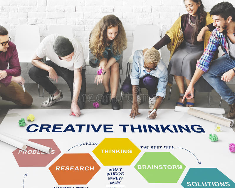 Innovation Strategy Creativity Brainstorming Concept stock photo