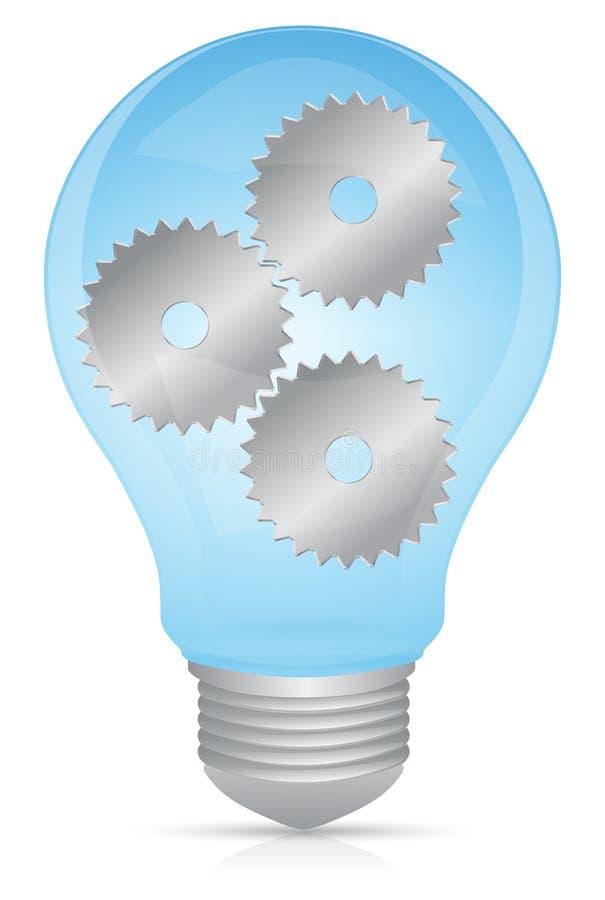 Innovation tänder kulan stock illustrationer