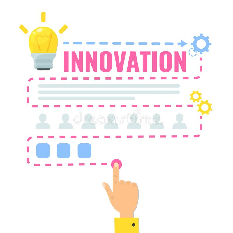 Innovation concept. Clever think. Infographic vector illustration stock illustration