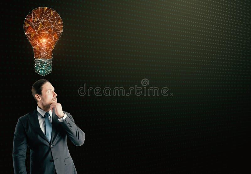 Innovation-, teknologi- och lösningsbegrepp royaltyfria bilder