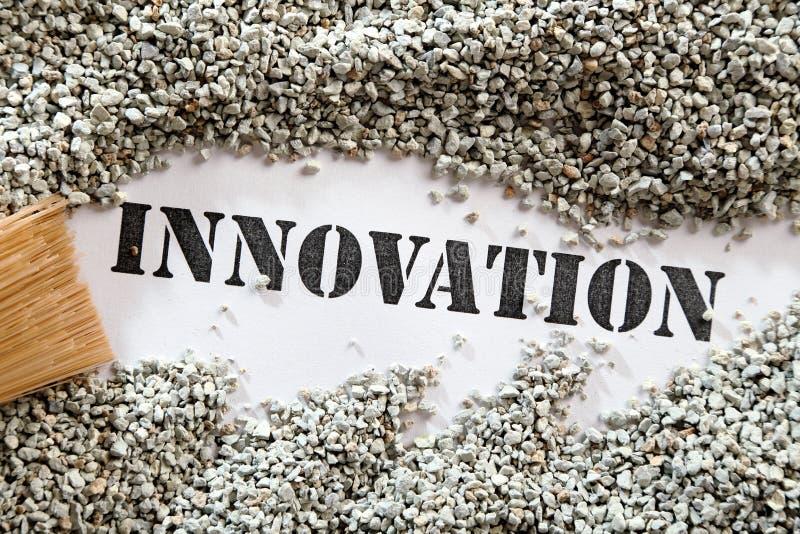 Innovation treasure word series royalty free stock photos