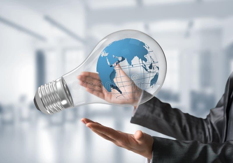 Innovationen für das Weltschutzkonzept lizenzfreie stockbilder