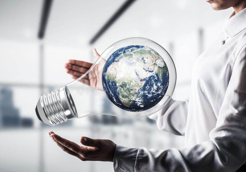 Innovationen für das Weltschutzkonzept stockbild