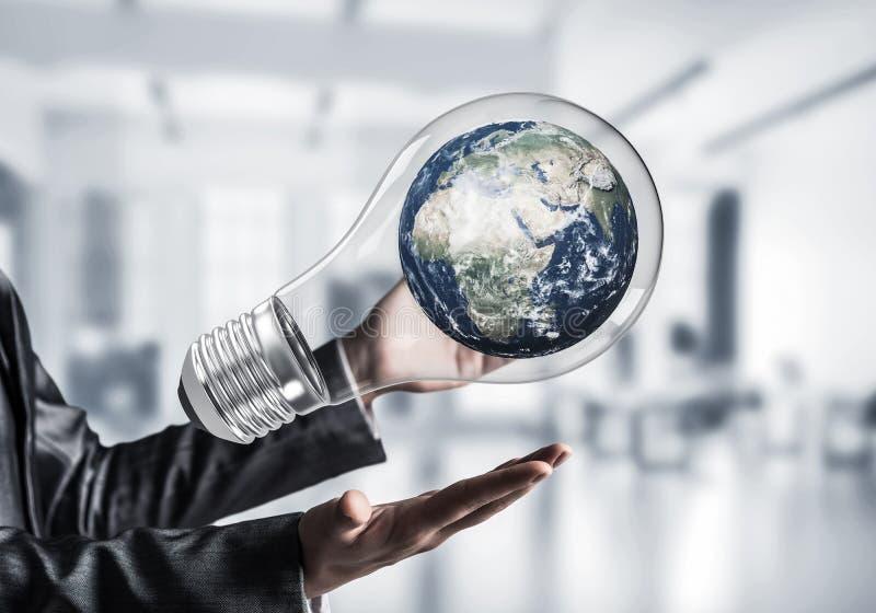 Innovationen für das Weltschutzkonzept lizenzfreie stockfotos