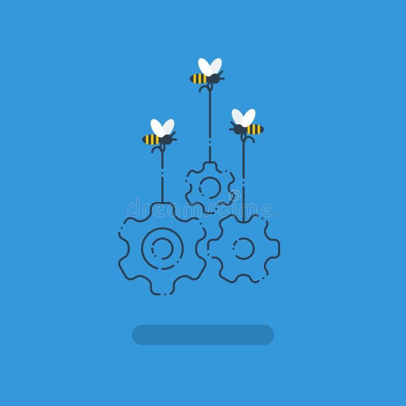 Innovationidéer, samarbetsprojekt, arbetar tillsammans begreppet, öppen källa vektor illustrationer