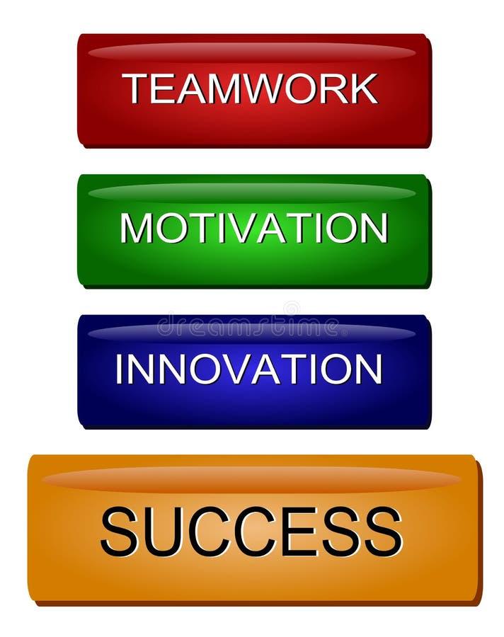 Innovations-Beweggrund-Erfolg stock abbildung