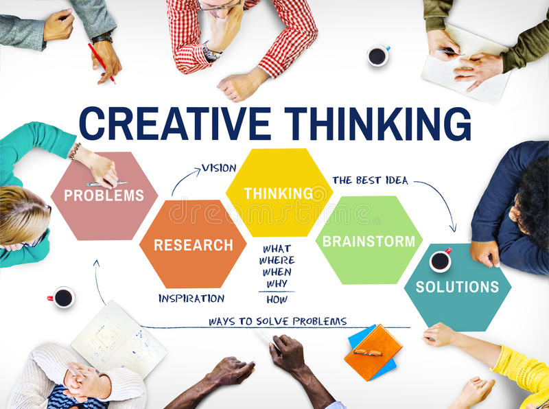 Innovations-Strategie-Kreativitäts-Brainstorming-Konzept lizenzfreie stockfotos