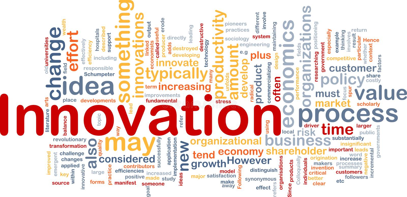 Innovationsgeschäfts-Hintergrundkonzept vektor abbildung