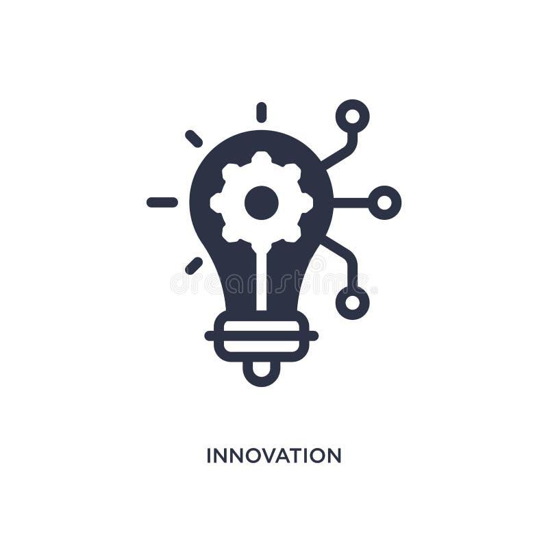Innovationsikone auf weißem Hintergrund Einfache Elementillustration von vermarktendem Konzept stock abbildung