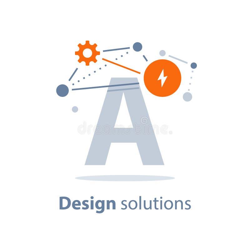 Innovativ teknologi, designlösningar, underhållningbegrepp, bildande resurser vektor illustrationer