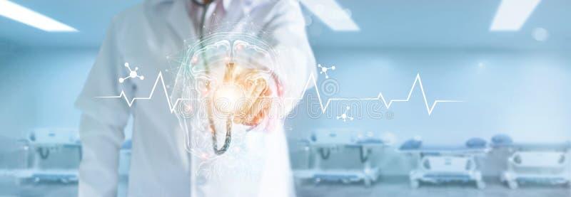 Innovativ teknologi i vetenskap och medicinbegrepp arkivbild