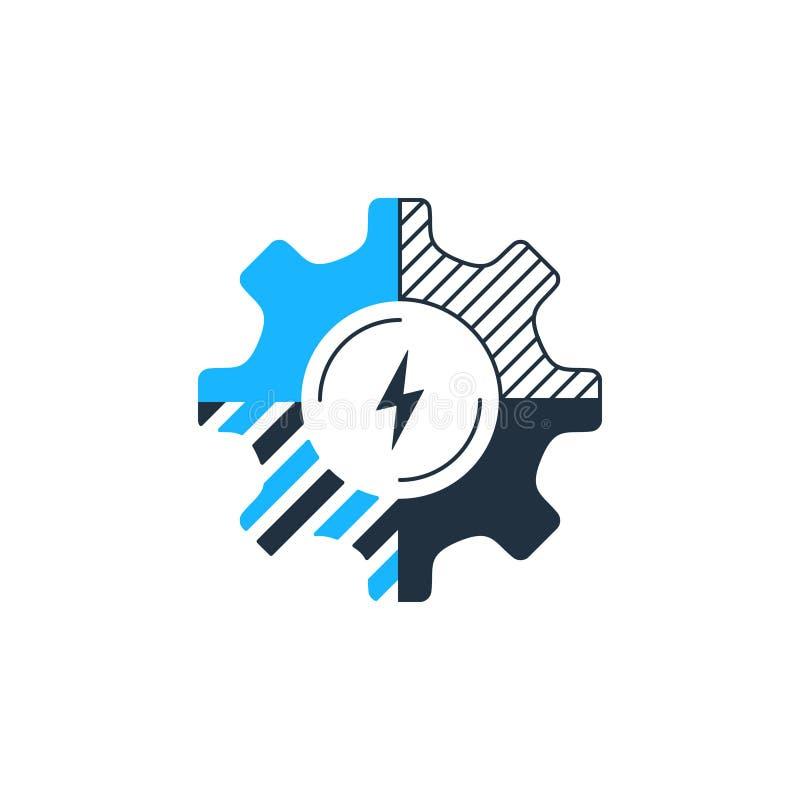Innovativ teknologi, systemförbättring, komplexa lösningar, öppen källkod stock illustrationer