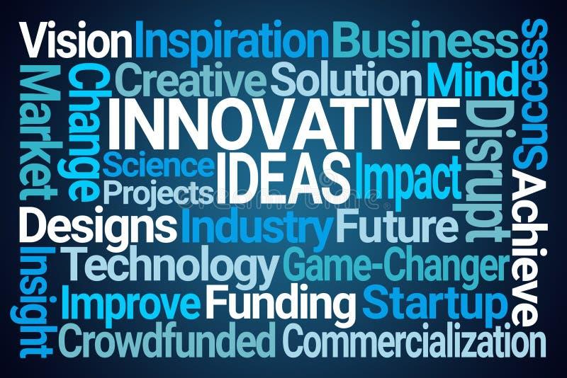 Innovativa idéer uttrycker molnet stock illustrationer