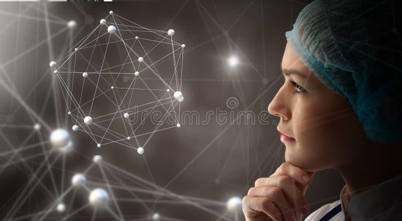 Innovativa teknologier i vetenskap och medicin arkivbilder