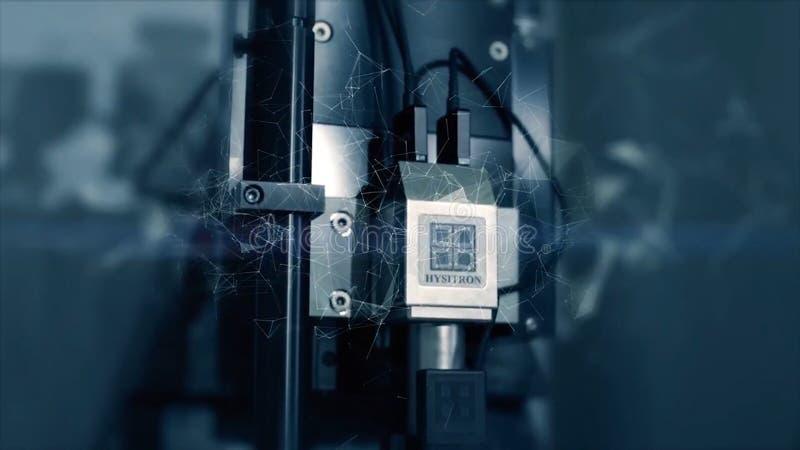 Innovativa teknologier i vetenskap och medicin Högteknologiskt mikroskop Blandat massmedia optiska apparater toppen-tech mikrosko arkivbilder