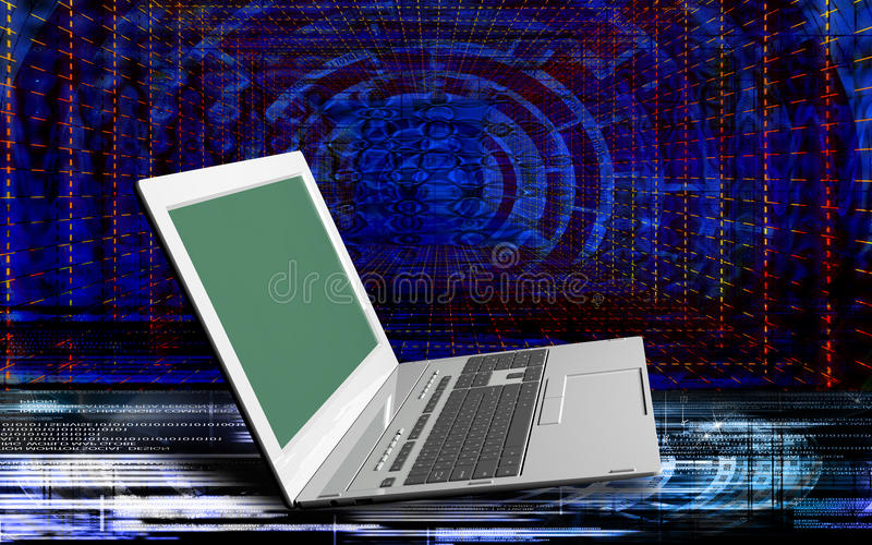 innovative Computer Internet-Technologien für Geschäft stock abbildung