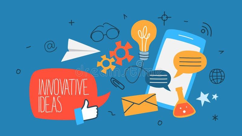 Innovative Ideenkonzeptillustration lizenzfreie abbildung