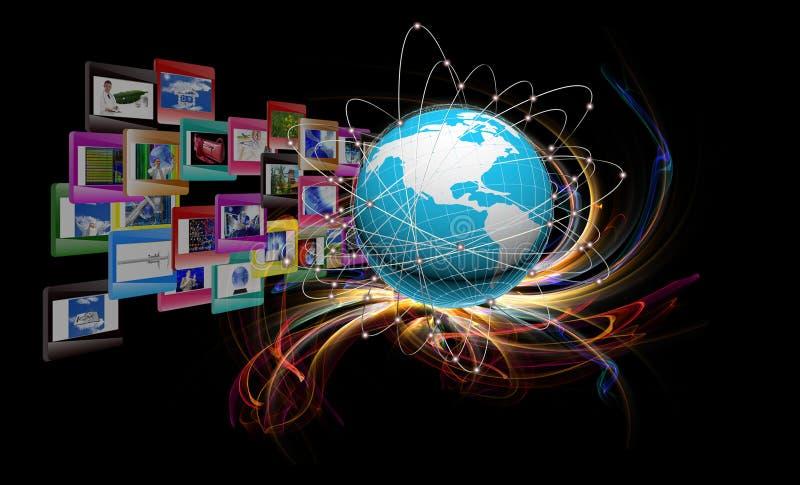 Innovative internet. Internet.Modern computers technologies connection stock illustration