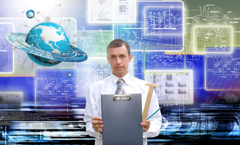 Innovative internet. The newest Internet technologies and digital internet communications stock photography