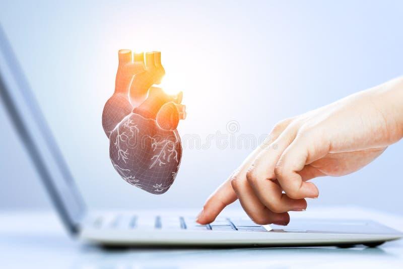 Innovative medicine concept. Heart symbol stock images