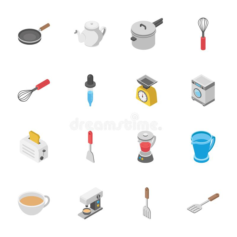 Innovative Pack Of Objects. An innovative pack of objects icons is providing three dimensional visuals to grab the attention of viewers. You will find almost vector illustration