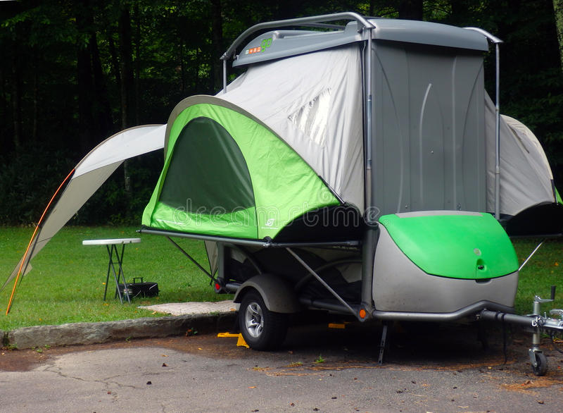 An innovative pop-up tent stock photo