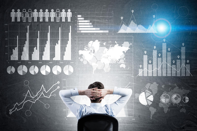 Innovative Technologien für Geschäft lizenzfreie stockfotos