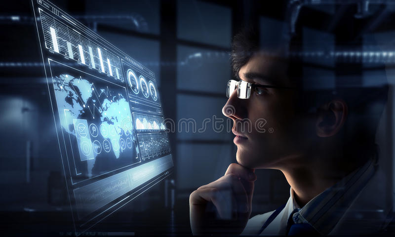 Innovative technologies in science and medicine. Mixed media stock photography