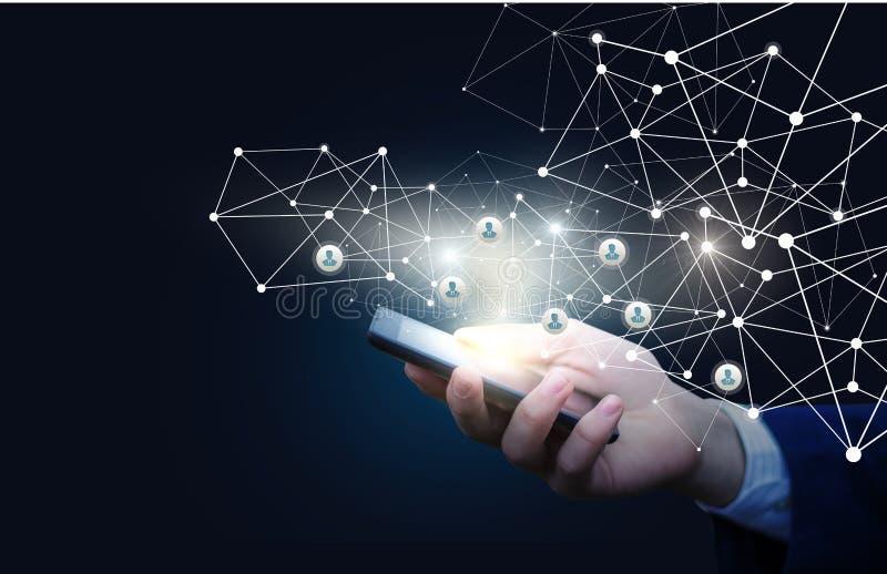 Innovatives Management des Personals im Netz vektor abbildung